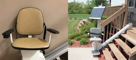 Indoor and Outdoor Straight Stairlifts by Handi-Lift Residential Stairlifts in North Carolina